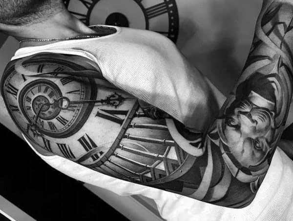 Black and Grey tatovací styly