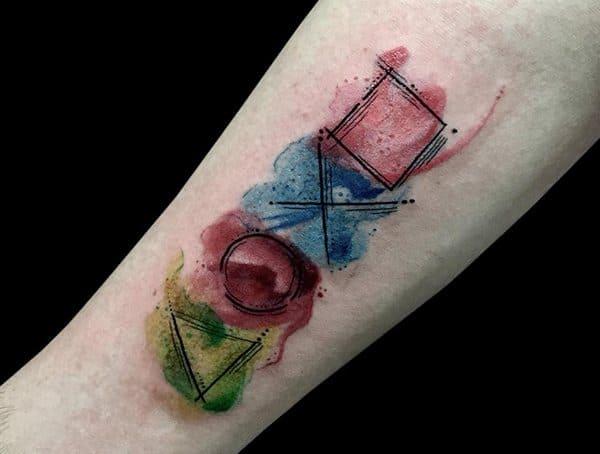 Vodové barvy tetovací styly